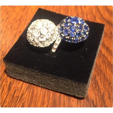 Кольцо с бриллиантами и сапфирами ( Лот LV 2750)ь