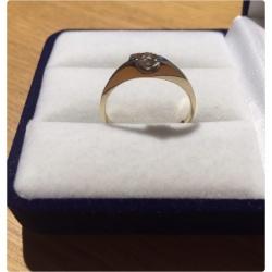 Винтажное кольцо с бриллиантом