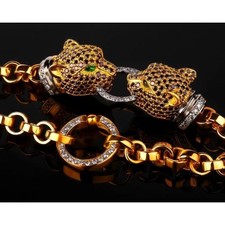 """Шикарный бриллиантовый браслет """"пантеры"""" Артикул: 131117/4"""