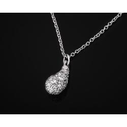 Tiffany&Co Elsa Peretti платиновый кулон