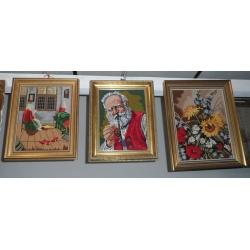 Картины вышивки антикварные