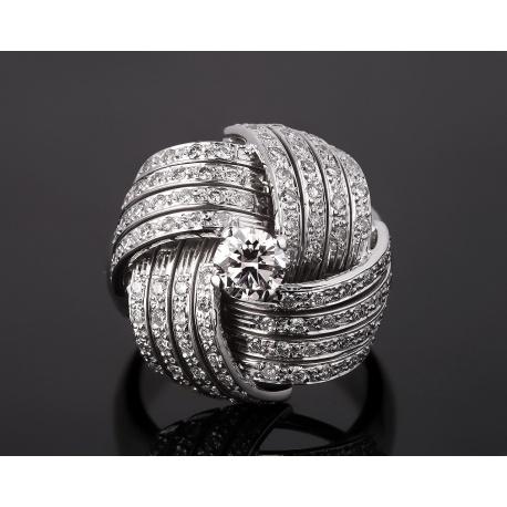 Элегантное золотое кольцо с бриллиантами 1.40ct Артикул: 051217/16