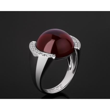 Cartier волшебное золотое кольцо с кварцем Артикул: 021217/4
