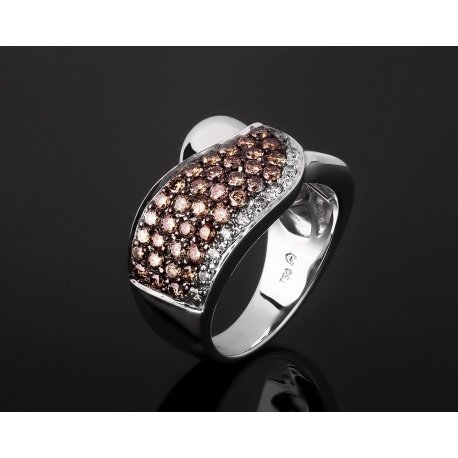 Удивительное золотое кольцо с бриллиантами 0.83ct Артикул: gr7