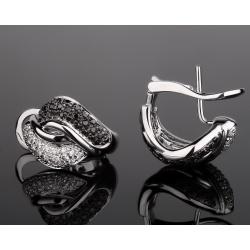 Leo Pizzo стильные золотые серьги с бриллиантами