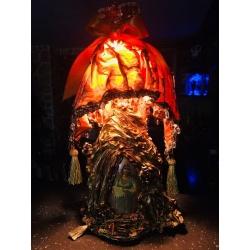 Лампа с оранжевым куполом ( Лот NK 012)