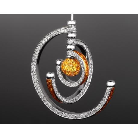 Prologue Orbit золотые серьги с бриллиантами