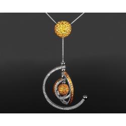 Prologue Orbit золотой кулон с сапфирами 12.07ct Артикул: 251217/13