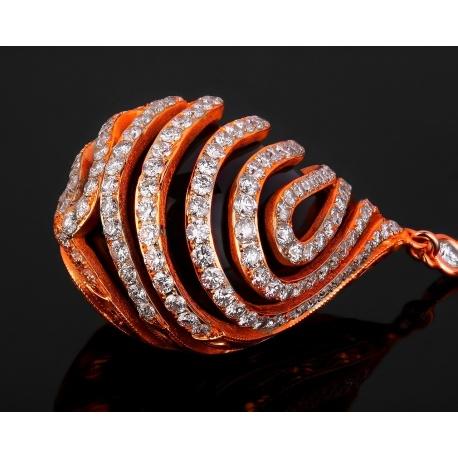 Элегантные золотые серьги с бриллиантами 3.45ct Артикул: 050118/2