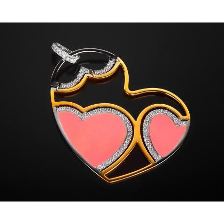 Roberto Coin Heart романтичная золотая подвеска Артикул: 291217/3