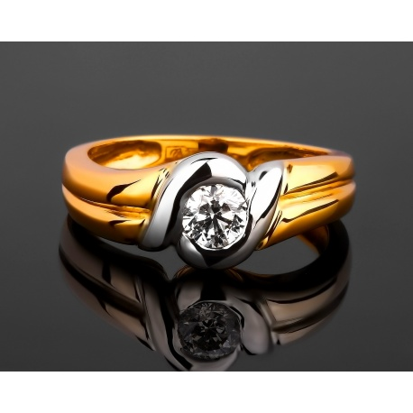 Золотое кольцо с бриллиантом 0.30ct Артикул: 300317/4