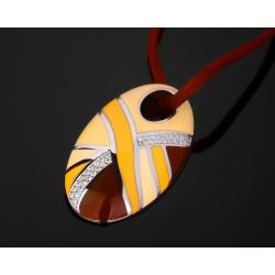 Roberto Coin золотой кулон с бриллиантами 0.31ct