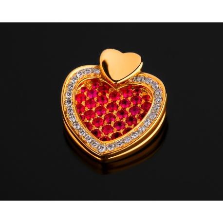 Casa Gi рубиновая подвеска с бриллиантами Артикул: 200117/3