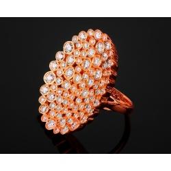 Золотое кольцо с бриллиантами 2.41ct Casato