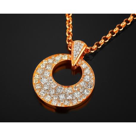 Итальянская золотая подвеска с бриллиантами 3.82ct Артикул: 030218/5