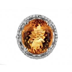 Бриллиантовое кольцо с цитрином 19.80ct