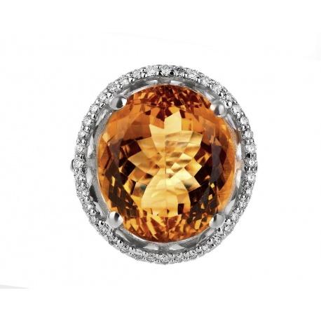Бриллиантовое кольцо с цитрином 19.80ct Артикул: 080218/4
