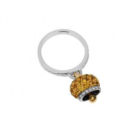 Яркое золотое кольцо с бриллиантами и сапфирами Chantecler Артикул: 090218/4