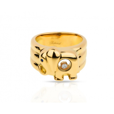 Золотое кольцо Chopard Happy Diamonds Elephant Артикул: 200117/1