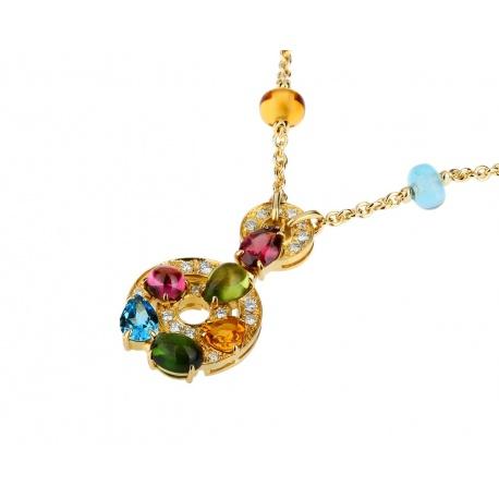 Яркое золотое колье с бриллиантами Bvlgari Astrale Артикул: 130218/9