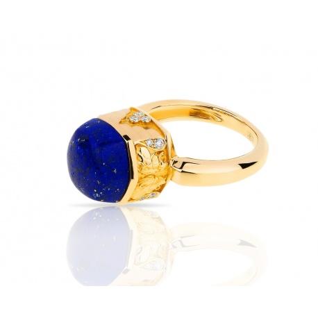 Золотое кольцо с лазуритом 7.55ct Magerit Babylon Caramelo Артикул: 020318/12