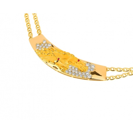 Золотое колье с бриллиантами 0.42ct Carrera Y Carrera Horse Артикул: 030318/10