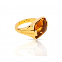 Красивое кольцо с цитрином Bvlgari Metropolis