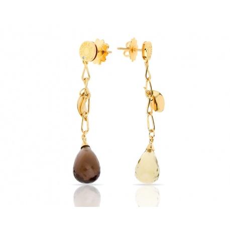 Золотые серьги с цветными камнями Alfieri&St.John Артикул: 151217/25