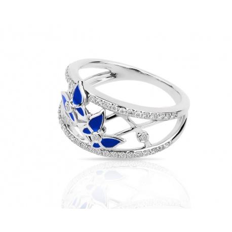Привлекательное золотое кольцо с бриллиантами 0.36ct Артикул: 120318/17