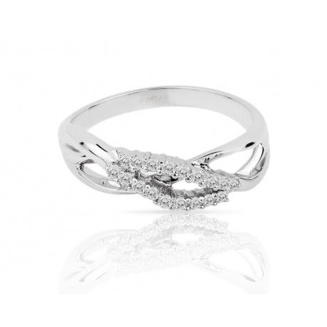 Утонченное золотое кольцо с бриллиантами 0.22ct Артикул: 020318/8