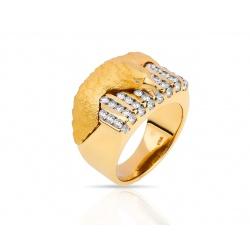 Золотое кольцо с бриллиантами 1.08ct Carrera