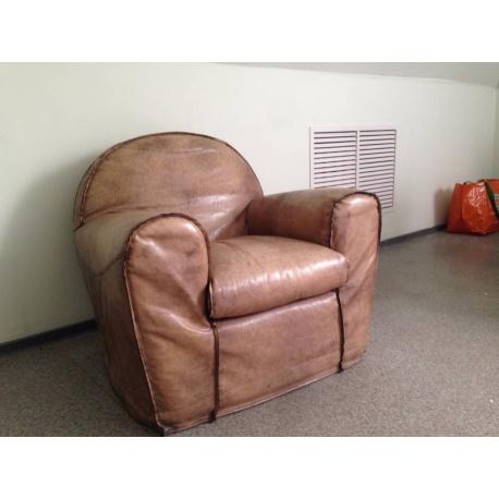 Кресло из натуральной кожи (Apт NMME28)