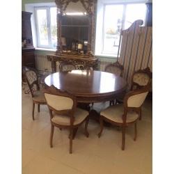 Винтажный стол и 6 стульев (Apт NSTG64)