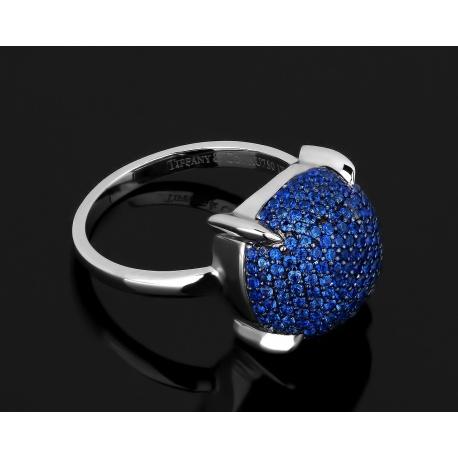 Золотое кольцо с сапфирами 0.85ct Tiffany&Co Paloma's Sugar Stacks Артикул: 260318/1