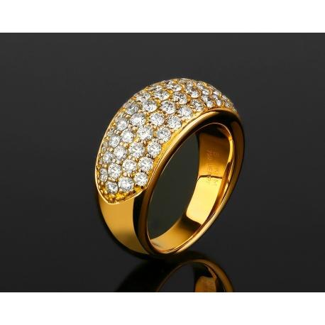 Золотое кольцо усыпанное бриллиантами 1.51ct Wempe By Kim Артикул: 230318/4