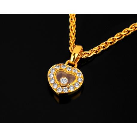 Золотая подвеска с бриллиантами 0.29ct Chopard Happy Diamonds Артикул: 230318/8