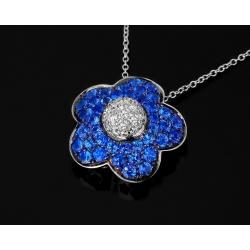 """Подвеска """"Синий цветок"""" Pasquale Bruni Fleur"""
