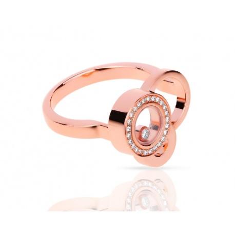 Золотое кольцо с бриллиантами 0.11ct Chopard Happy Bubbles Артикул: 010418/2