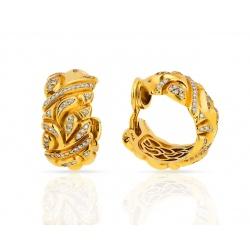 Красивые золотые серьги с бриллиантами Chopard