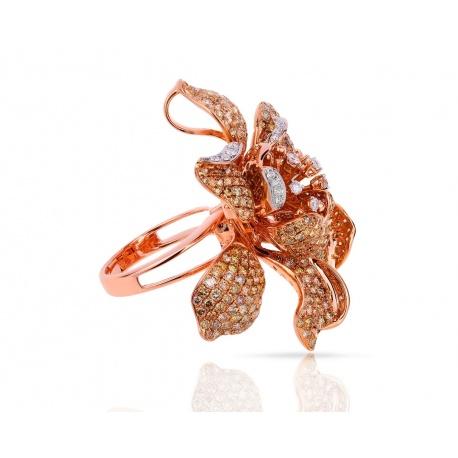 Коктейльное золотое кольцо-кулон с бриллиантами 7.11ct Артикул: 090418/4