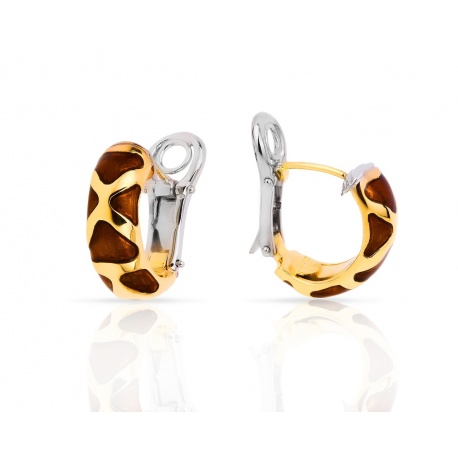 Изящные золотые серьги Roberto Coin Giraffe Animalier Артикул: 060418/6