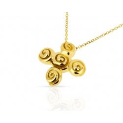 Оригинальная золотая подвеска Tiffany&Co
