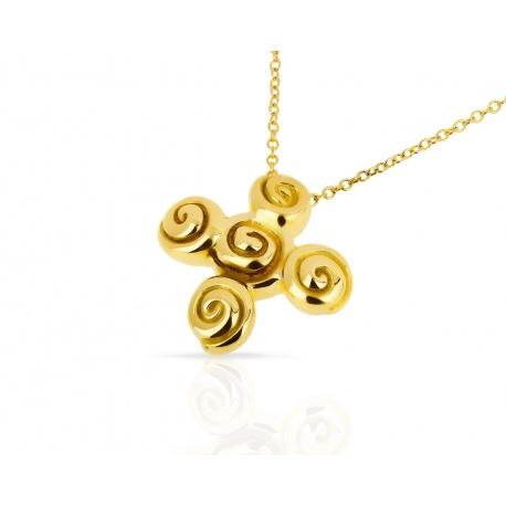 Оригинальная золотая подвеска Tiffany&Co Артикул: 060418/4