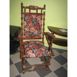 Кресло качалка из красного дерева