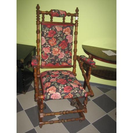 Кресло качалка с цветами