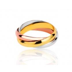 Трехцветное кольцо Trinity De Cartier