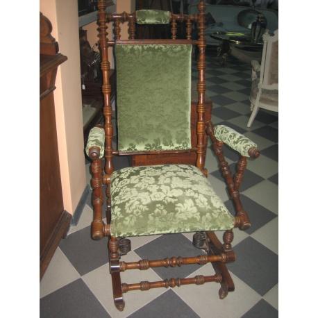 Кресло качалка с пружинным механизмом