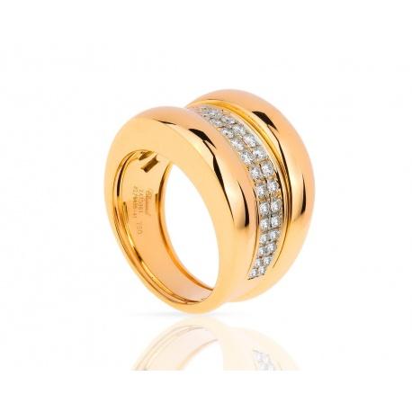 Золотое кольцо с бриллиантами 0.62ct Chopard La Strada