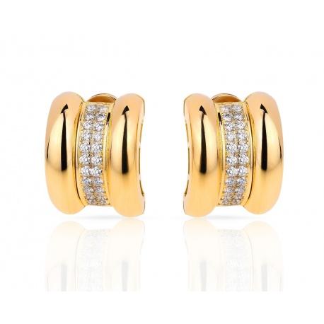 Золотые серьги с бриллиантами 0.92ct Chopard La Strada