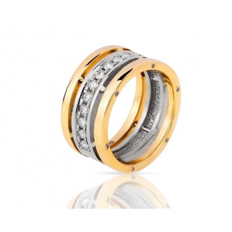 Солидное кольцо из золота 585 пр. с бриллиантами